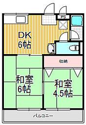 萩原ハイツ[1階]の間取り