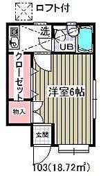 ローズアパートR27[1階]の間取り