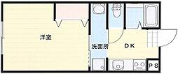 神奈川県平塚市浅間町の賃貸マンションの間取り
