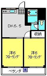 神奈川県横浜市旭区白根2丁目の賃貸マンションの間取り