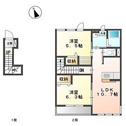 原宿4丁目アパートII期新築工事[202号室]の間取り