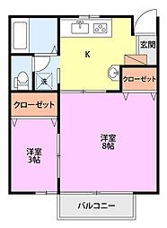 ベルテ新栄町[102号室]の間取り