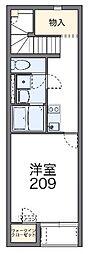 レオネクストフィロ 前沢宿II53125 2階1Kの間取り