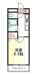 東武東上線 鶴ヶ島駅 徒歩3分の賃貸マンション 3階1Kの間取り