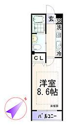 ピアコートTM下井草[1階]の間取り