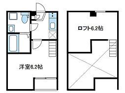 神奈川県相模原市南区相武台1の賃貸アパートの間取り