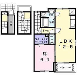 静岡県富士宮市神田川町の賃貸アパートの間取り