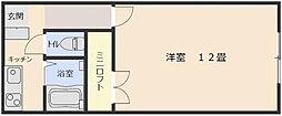 サンライズ中尾山 A[105号室]の間取り