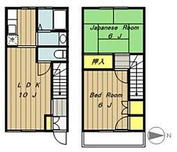 [テラスハウス] 神奈川県相模原市中央区宮下本町2丁目 の賃貸【神奈川県 / 相模原市中央区】の間取り