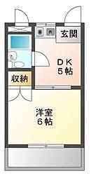 愛知県豊橋市東小池町の賃貸マンションの間取り