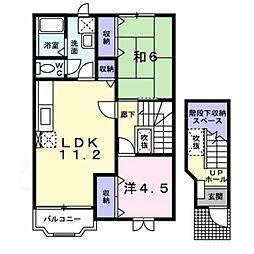 新潟県新潟市西蒲区巻甲の賃貸アパートの間取り