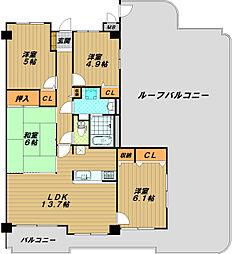 須磨妙法寺アーバンコンフォート[7階]の間取り
