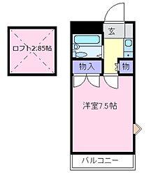 大阪府松原市高見の里1の賃貸アパートの間取り