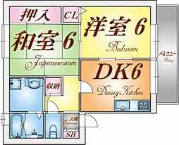 兵庫県神戸市垂水区西舞子4丁目の賃貸アパートの間取り