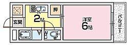 ホウトクマンション[1階]の間取り