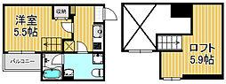 ラミアカーサ衣摺[2階]の間取り