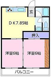 第2塩野マンション[1階]の間取り