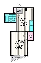 東京都品川区東大井6丁目の賃貸マンションの間取り