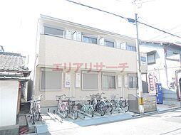大阪府大阪市東住吉区照ケ丘矢田1丁目の賃貸アパートの外観