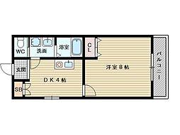 アサヒマンション[3階]の間取り