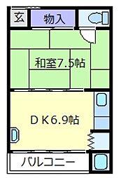 谷川アパート[3階]の間取り