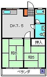 神奈川県横浜市南区永田台の賃貸マンションの間取り