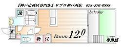 シエルオカモト[106号室]の間取り