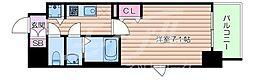 ファーストフィオーレ新梅田 2階1Kの間取り