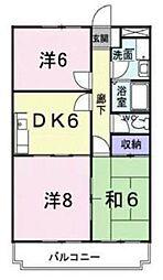 神奈川県川崎市高津区久末の賃貸マンションの間取り