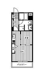 プリフェランス[1階]の間取り