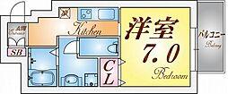兵庫県神戸市兵庫区塚本通1丁目の賃貸マンションの間取り