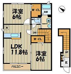 TSU・BA・KI A棟[2階]の間取り
