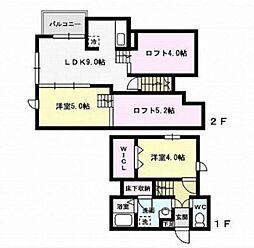 福岡県福岡市早良区百道2丁目の賃貸アパートの間取り