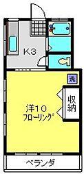 神奈川県横浜市南区東蒔田町の賃貸マンションの間取り