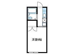 神奈川県座間市広野台1丁目の賃貸アパートの間取り