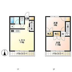 [テラスハウス] 東京都三鷹市牟礼1丁目 の賃貸【/】の間取り
