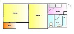 グリーンパレス毛呂[2階]の間取り