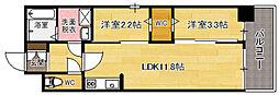 modern palazzo天神南[7階]の間取り