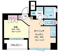 ボンナチュール入谷[8階]の間取り