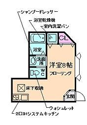 大阪府池田市井口堂1丁目の賃貸アパートの間取り