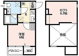 大阪府大阪市平野区加美南2丁目の賃貸アパートの間取り