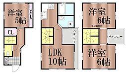 [一戸建] 東京都大田区西蒲田3丁目 の賃貸【/】の間取り