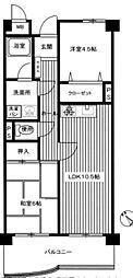 スワンマンション東箱崎[203号室]の間取り