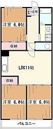 アルカサール武蔵野[3階]の間取り