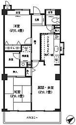 メルベーユ横浜子安[4階]の間取り
