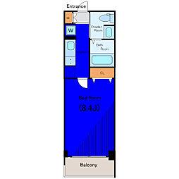 京急本線 雑色駅 徒歩7分の賃貸マンション 5階1Kの間取り