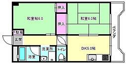 大阪府枚方市町楠葉1丁目の賃貸マンションの間取り
