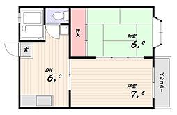 シンメイハイツ[2階]の間取り