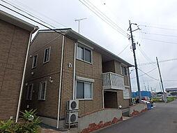 栃木県真岡市長田1丁目の賃貸アパートの外観