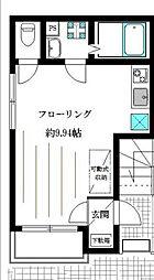 東京メトロ銀座線 末広町駅 徒歩5分の賃貸マンション 1階ワンルームの間取り